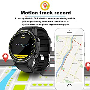 findtime GPS Fitness Tracker Smart Watch Phone with SIM Card Slot Heart Rate Monitor Compass Outdoor Sports Wrist Watches
