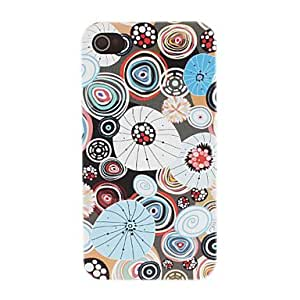 TY- Garabato de colores de los Círculos Patrón PC caso duro para el iPhone 4/4S