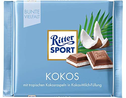 - Ritter Sport Coconut Chocolate Bar Candy Original German Chocolate 100g/3.52oz