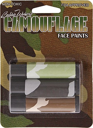 Fox Outdoor Products Camouflage Scorpion 3-Tubes Face Paint
