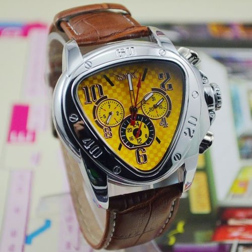Amazon.com: 2014 New Arrival JARAGAR Triangle Shape Auto Mechanical Watch Mens Wristwatch with Date Week Displaying: Watches