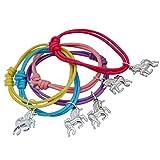 Unicorn Bracelet Cotton Charm Bracelets Wristbands Party Favors Supplies Decorations Cute Toys Prizes Gifts for Kids Boys Girls 5 PCS