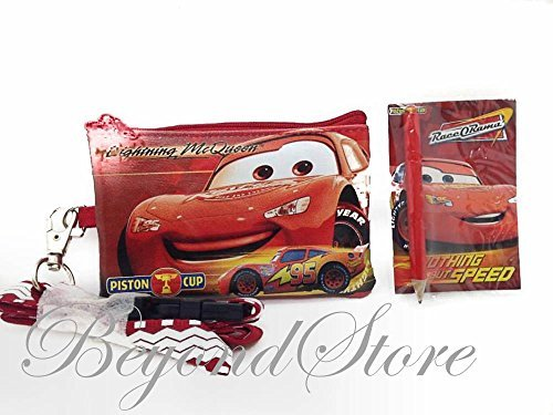 Disney Cars Red KeyChain Lanyard Fastpass ID Ticket Holde (Cars Lanyard)