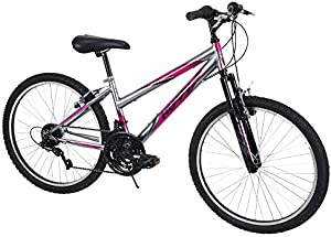 Huffy Mountain Bike Girls Incline 24-inch Bicycle, Pink