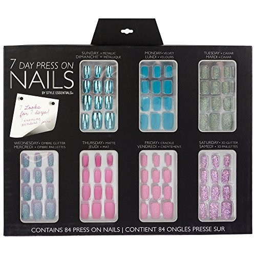 Style Essentials 7 Day Nail Set, 7 Count (7 Day Nail Polish)