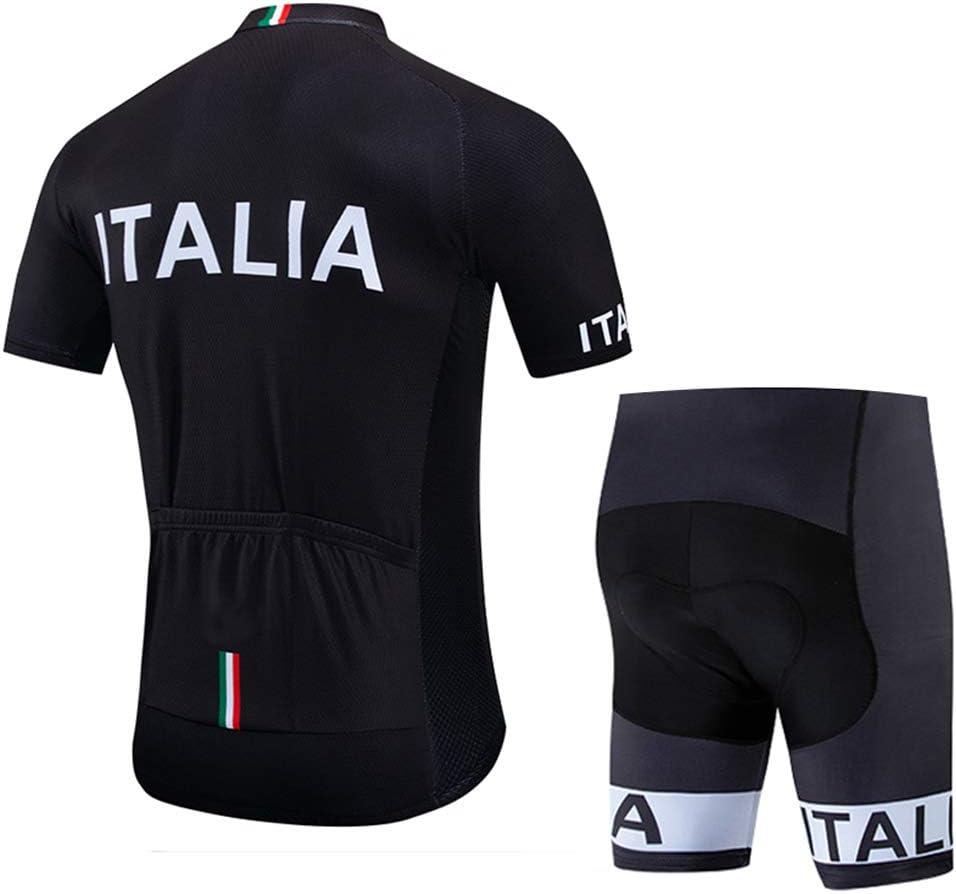 Completo Ciclismo Uomo Abbigliamento Ciclismo Estivo Set con Pantaloncini Traspiranti Maglia Ciclismo Uomo Manica Corta
