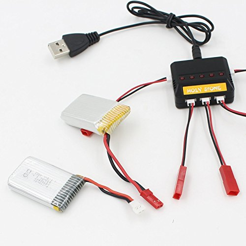 Holy Stone 5 in 1 Max 2.5A Current Input Fast Battery Charger for X5C, 818a,X1,X4,HS170,X300,X400,F181,F180 Quad Copter