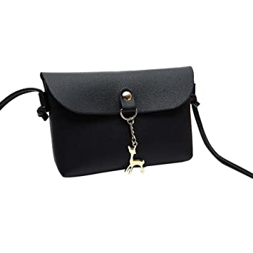 ffc1f5fdf4a2 Amazon.com : Snowfoller Fashion Mini Bags Deer Pendant Leather ...