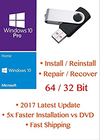 Windows 10 32-bit & 64-bit All Editions Recovery Reinstall Repair Recovery Fix USB WINDOWS 10 ANY Version Repair, Recovery, Restore, Re-install & Reboot Fix USB Free Messaging Tech Support