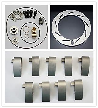 Kit de reconstrucción GT3782/88VA + 9 piezas de álabes Gt3782va + anillo Unison Turbo cargador GT3788va 6.0 Powerstroke GT3782va Duramax 6.6: Amazon.es: ...