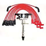 Commart Chevy Vortec 1996-2001 5.7L/350 5.0L/305 Distributor & RED Spark Plug Wires Ships from USA