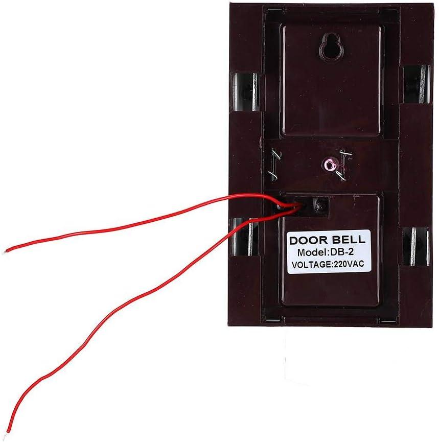 Alinory Timbre 220V Timbre con Cable Manual Ding Dong Bell Timbres para el Sistema de Control de Acceso del Hotel en el hogar