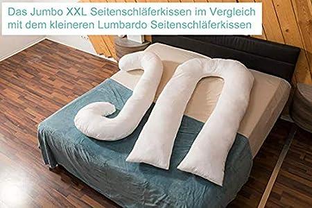XXL Jumbo Cojín gigante para dormir de lado, almohada de