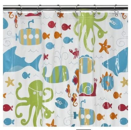 Image Unavailable Not Available For Color Circo SEALIFE EVA SHOWER CURTAIN
