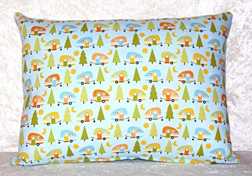 Handcrafted Throw Pillow Cover - Teardrop Pod Trailer - Fits 16