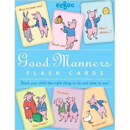Amazon.com: eeBoo Good Manners Flash Cards: Toys & Games
