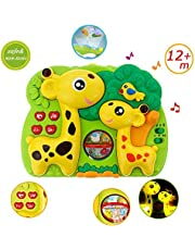 INvench Giraffe Dream Soother Crib Toy - 2 in 1 Nightlight Sleep Soother Slumber Buddies with Dual Projection and Melodies