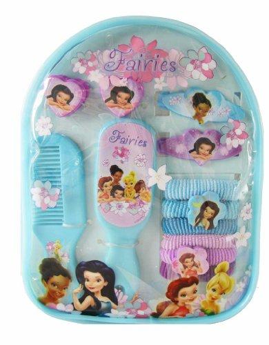 Disney Princess Tinker Bell Hair Accessory Gift Pack - Princess Hair Band / Hair Clips (13 pcs Set)