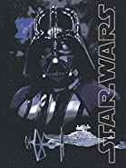 "Disney Lucas Films' Star Wars Dark Lord Darth Vader Printed Silk Touch Warm Sherpa Throw / Blanket, 60 by 80"" Twin size"