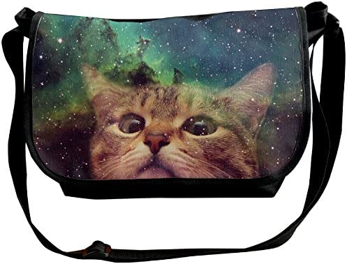 Galaxy Space Cat Sketch Cross Body Shoulder Messenger Laptop Bag