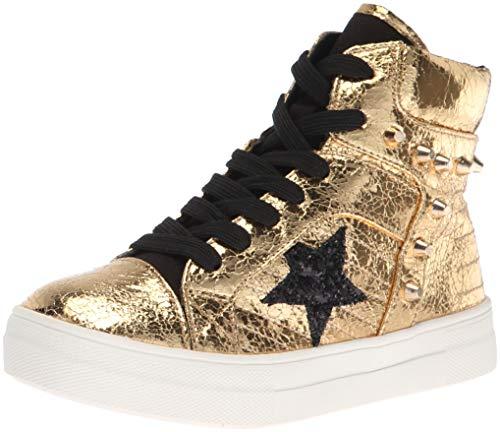 NINA Girls' ima Sneaker Gold Crackle 9 Medium US Toddler (Crackle Footwear)