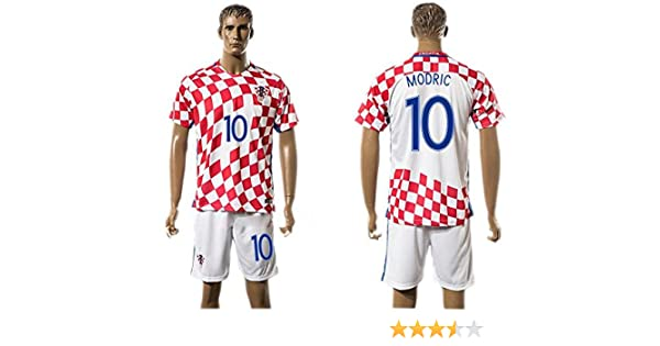 Generic 2016 2017 Croacia 10 Luka Modric Home Football Jersey en rojo: Amazon.es: Hogar