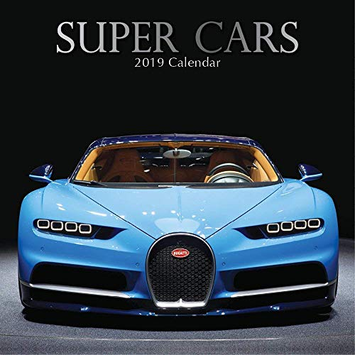 2019 Wall Calendar - Super Cars Calendar, 12 x 12 Inch Monthly View, 16-Month, Automobile Theme with Luxury Racing Cars, Includes 180 Reminder Stickers