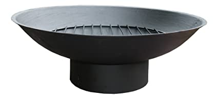 Hierro fundido plato woofers de leña/barbacoa/fire pit/cuenco/plato/