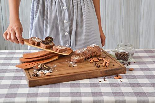 Handmade Utensil Set of 4 Wooden Kitchen Utensils Spatula Cherry Wood Spurtle Kitchen Supplies by MyFancyCraft (Image #4)