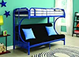 Acme Furniture 02093BU Eclipse Futon Bunk Bed, Twin X-Large/Queen, Blue
