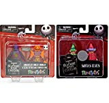 The Nightmare Before Christmas Minimates Unraveled Oogie Boogie and Glow-in-the-Dark Pumpkin King + Santa's Elves Exclusive Minifigure 2-Pack
