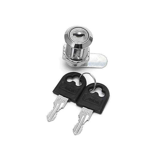 10mm JunYe 10-30mm Cam Lock Filing Cabinet Post Mailbox Drawer Cupboard Locker 2 Key