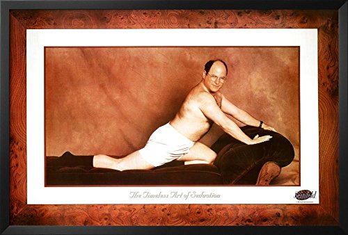 Seinfeld George The Timeless Art of Seduction TV Poster Print Framed