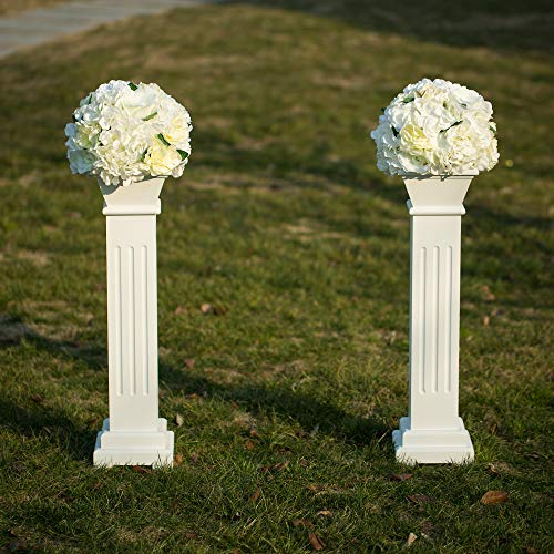 Homevibes 26 inch Tall Roman Pillar Column Display Stand Holds Flower Plates Pedestal Props Venetian for Wedding Ceremonies Stage Home Decoration, ()