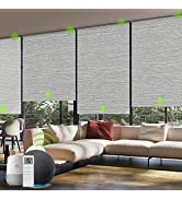 Yoolax Motorized Smart Blind for Window with Remote Control, Automatic Blackout Roller Shade Comp...