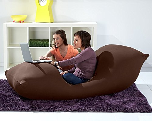 51ynTvhGClL - Yogibo Max Giant Bean Bag, 6-Feet, Brown