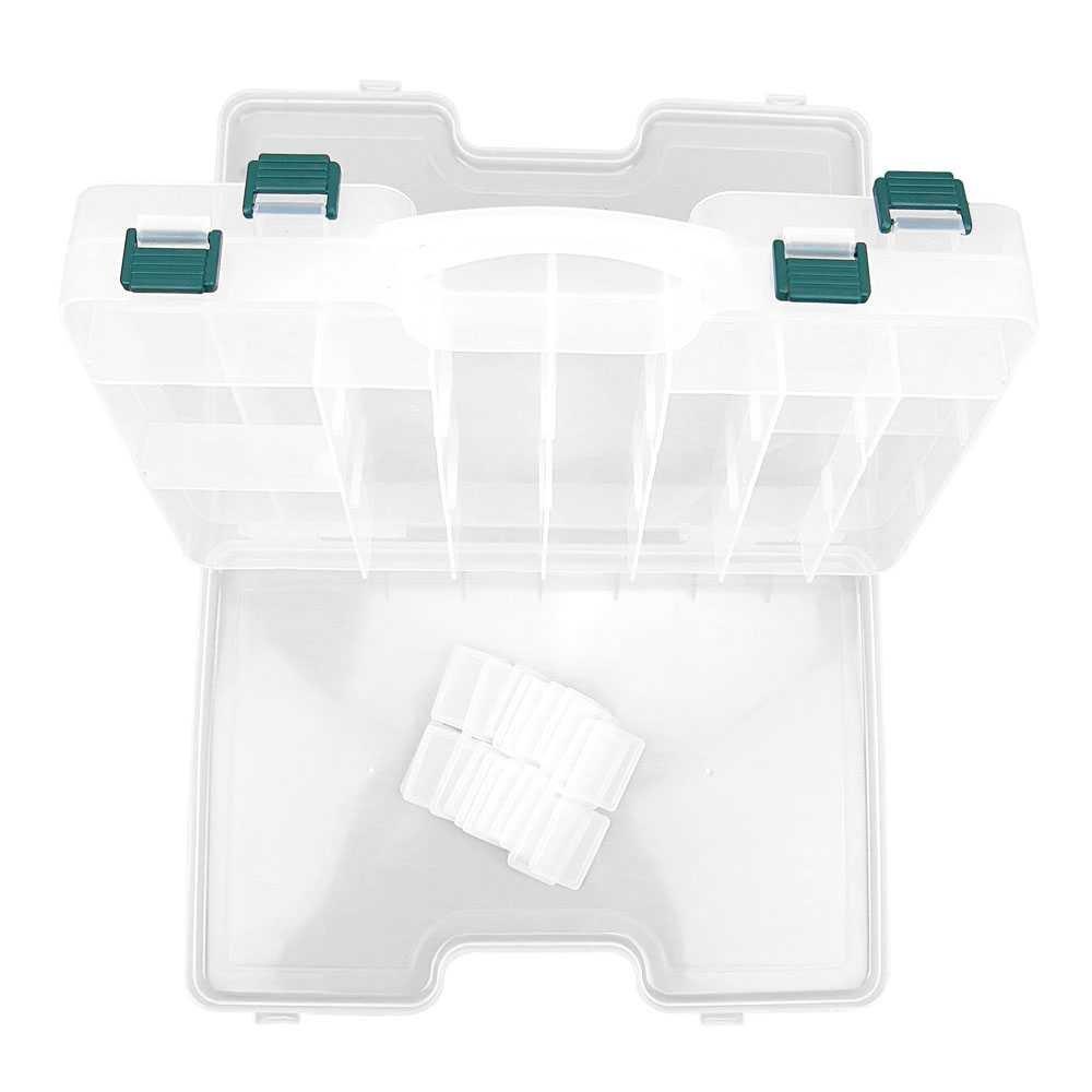 クリアビーズタックルボックス307釣りルアージュエリーネイルアートパーツSmall表示プラスチック透明ケースストレージオーガナイザーコンテナ 10  B00UO19DC6