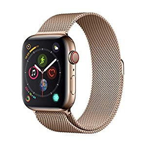 Apple Watch Series 4 (GPS + Cellular, 44mm) – Gold Stainless Steel Case with Gold Milanese Loop