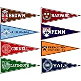 Ivy League Conference College Pennant Set