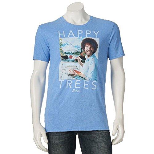 Mens Bob Ross Happy Trees Tee T Shirt  Extra Large