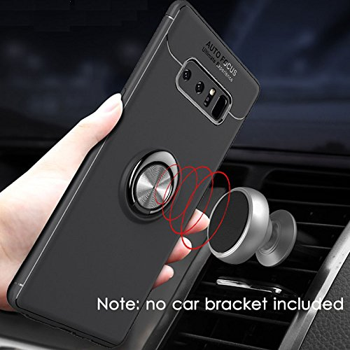 ANERNAI Galaxy Note 8 360Degree Rotating Ring Shockproof Compatible Magnetic Car Mount Cover for Samsung Galaxy Note8