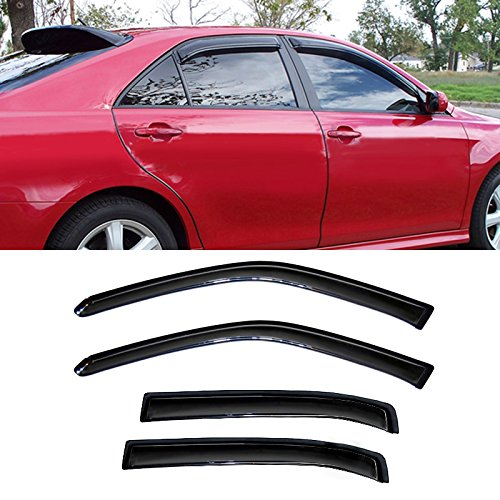 Alxiang 4pcs Dark Smoke Outside Mount Style Sun Rain Guard Vent Shade Window Visors Fit 06-13 Chevy Impala All Models