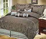 LCM Home Fashions Bamboo 7-Piece Queen Comforter Set