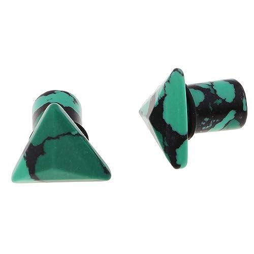 IPOTCH 1 Par Túnel Tapones para Oídos Perforación Piercing Dilatador de Piedras para Orejas - 10mm: Amazon.es: Joyería