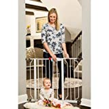 Baby : Regalo Easy Step Walk Through Baby Gate, Pressure Mount with Included Extension Kit