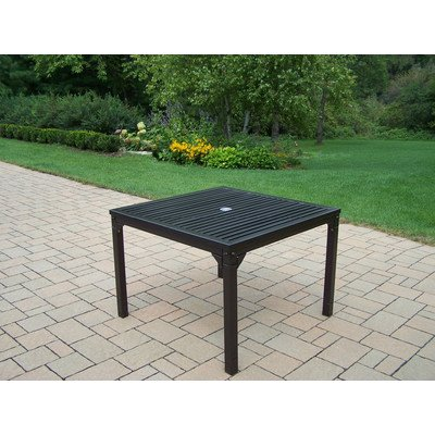 Oakland Living Rochester Dining Table, 40 by 40-Inch - Durable Tubular Iron Construction Hardened Powder Coat Finish in Hammer Tone Bronze for Years of Beauty Easy to Follow Assembly Instructions and Product Care Information - patio-tables, patio-furniture, patio - 51ynVUK8QjL. SS400  -