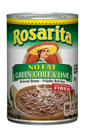 (Rosarita No Fat Refried Beans with Green Chile and Lime, 16 oz)