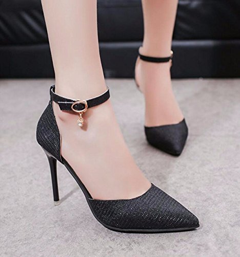 Rough Wide Shoes Heel Retro Fashion Fairy GTVERNH Shoes Skirt Summer Joker Leg Women's Black Female with Pants nzYZFq6pw