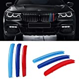 VANJING M-Colored Stripe Grille Insert Trims for BMW 2014-2015 7...