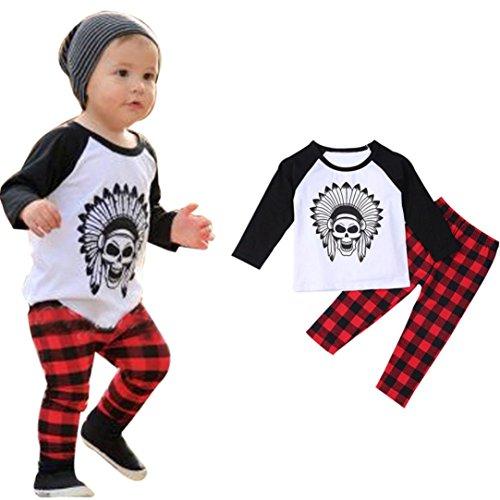 Christmas Gift!! 1Set Infant Toddler Baby Boys Printed T-...